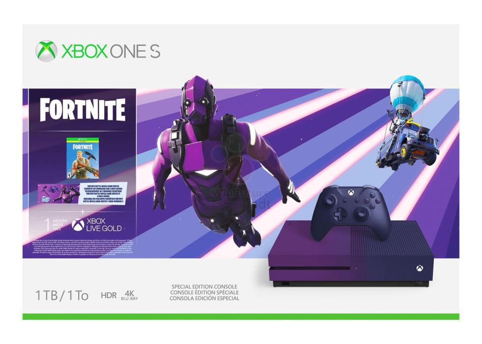 Xbox One S morada Fortnite