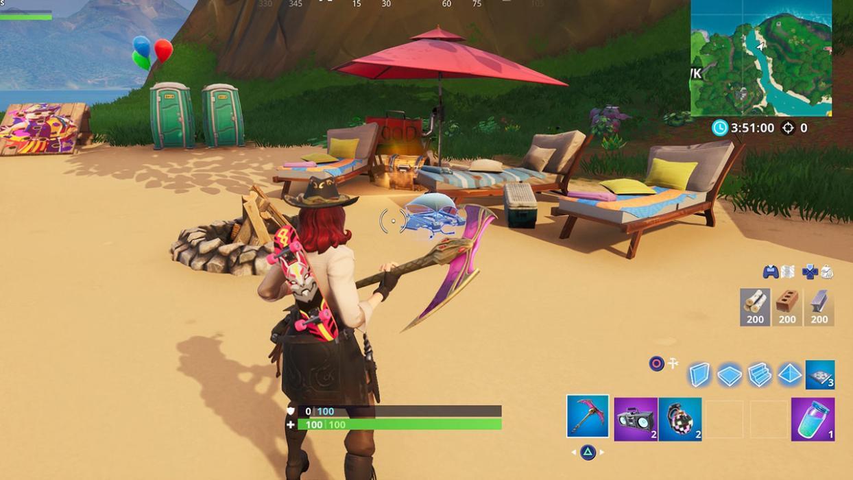 Fiestas en la playa Fortnite