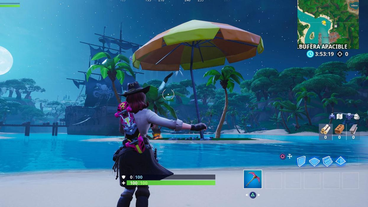 Sombrillas gigantescas Fortnite
