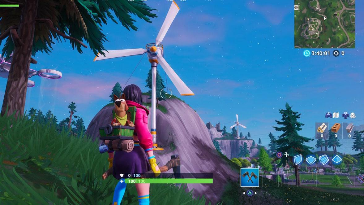 Turbinas de viento Fortnite