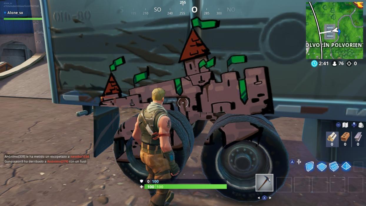 Fortnite Temporada 10 Pinta Grafitis En Coches O Camiones