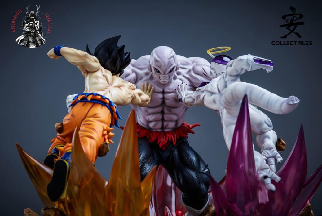 La resina de Goku, Freezer y Jiren