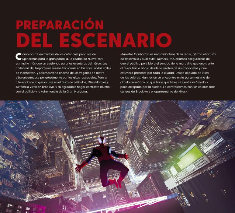 Spider-Man: Un nuevo universo, el libro de arte