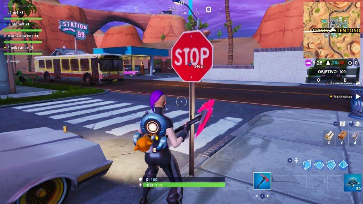 Visita señales de STOP Fortnite