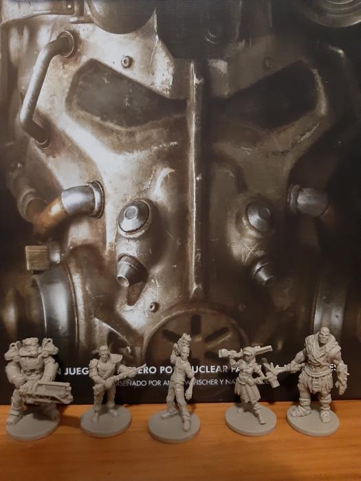 Juego de mesa Fallout - Componentes