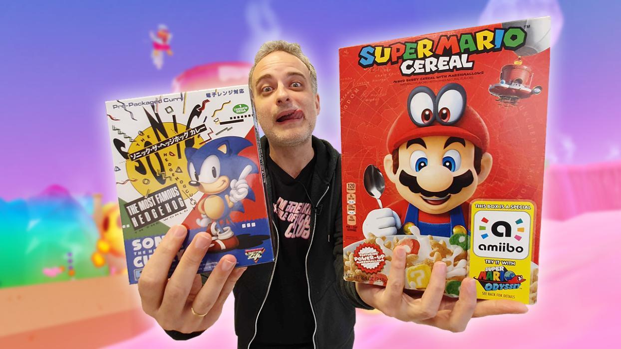 Los cereales de Mario y el curry de Sonic