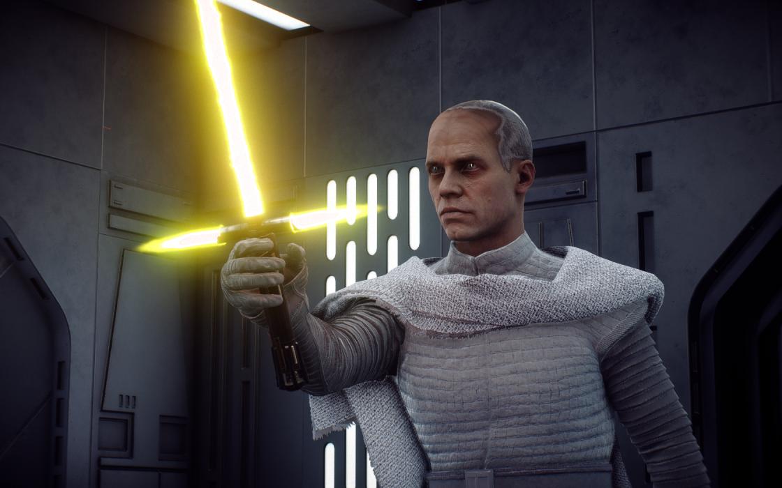 El papa Juan Pablo ll en animación para el juego Star Wars: Batllefront 2.