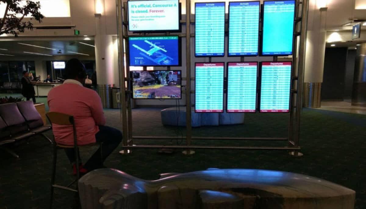ps4 jugar en aeropuerto
