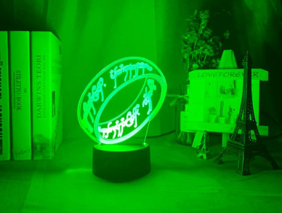 Lámpara 3D del anillo único (ESDLA)