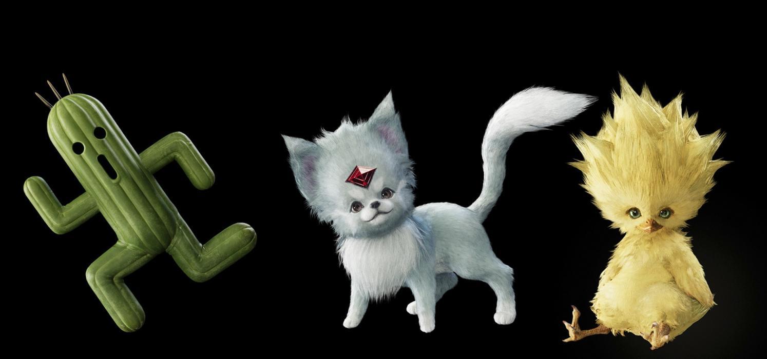 Rediseños Rubi y Baby Chocobo Final Fantasy VII Remake