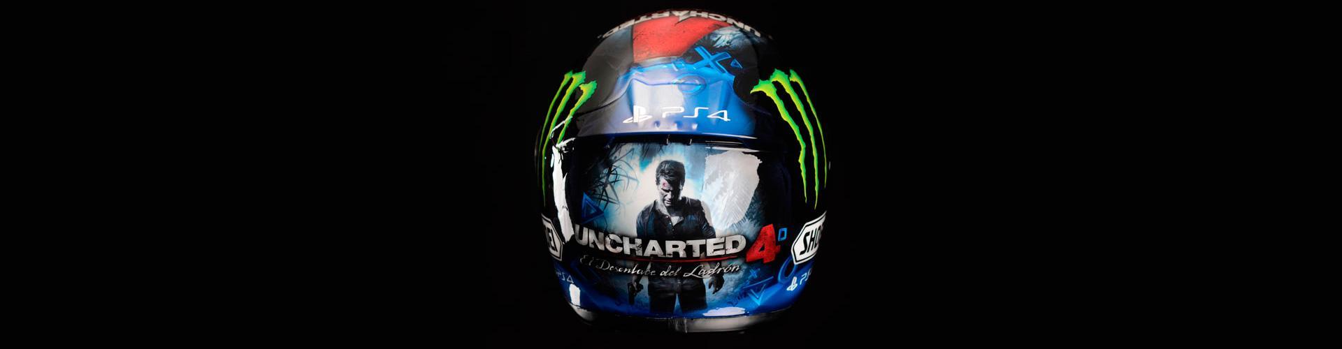 Uncharted 4 - casco Álex Márquez